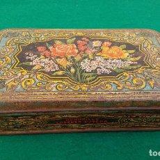 Cajas y cajitas metálicas: CAJA METÁLICA MEMBRILLO LORENZO ESTEPA, PUENTE GENIL. Lote 183559450