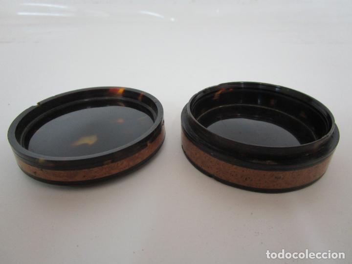 Cajas y cajitas metálicas: Preciosa Cajita de Rapé - Snuff Box - Dama - Raíz de Madera, Ébano - Interior Carey - S. XVII-XVIII - Foto 9 - 183662701