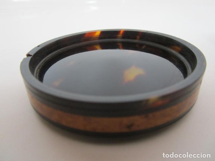 Cajas y cajitas metálicas: Preciosa Cajita de Rapé - Snuff Box - Dama - Raíz de Madera, Ébano - Interior Carey - S. XVII-XVIII - Foto 11 - 183662701