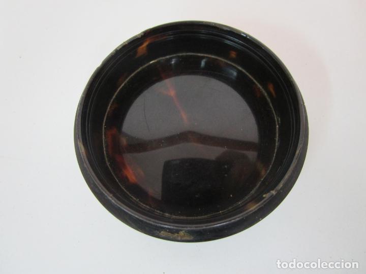 Cajas y cajitas metálicas: Preciosa Cajita de Rapé - Snuff Box - Dama - Raíz de Madera, Ébano - Interior Carey - S. XVII-XVIII - Foto 12 - 183662701
