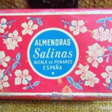 Cajas y cajitas metálicas: CAJA METALICA ALMENDRAS SALINAS, ALCALÁ , BUEN ESTADO, 11 X 18. Lote 183693721