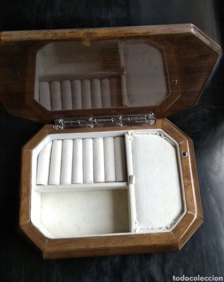 Cajas y cajitas metálicas: JOYERO MUSICAL ,,MADERA Y PLATA - Foto 14 - 183695978