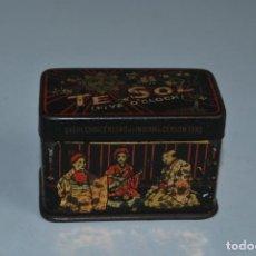 Cajas y cajitas metálicas: ANTIGUA LATA TÉ SOL - CAJA - CAJITA. Lote 184191528