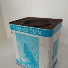 Boîtes et petites boîtes métalliques: LATA DE PIMENTÓN EL PICHÓN DE 3 KILOS, FRANCISCO PIÑERO FERNÁNDEZ. Lote 184394617