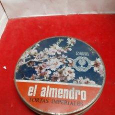 Cajas y cajitas metálicas: CAJA DE TORTAS IMPERIALES EL ALMENDRO. Lote 184478317