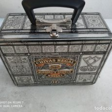 Cajas y cajitas metálicas: CAJA METALICA TIPO COFRE O MALETIN CHIVAS, IDEAL BICICLETA, DECORACION,. Lote 184901526