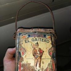 Cajas y cajitas metálicas: LATA DE PIMENTÓN EL GAITERO. MURCIA. AÑOS 40 O 50. Lote 185962078