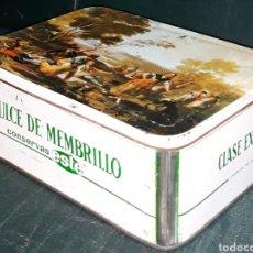 Cajas y cajitas metálicas: CAJA DE LATA CONSERVAS ESTE DULCE DE MEMBRILLO CLASE EXTRA 1967/68. Lote 186003111