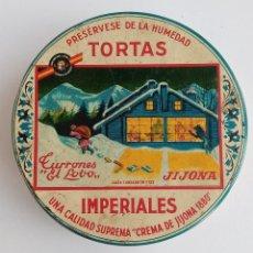 Cajas y cajitas metálicas: CAJA TORTAS IMPERIALES TURRONES EL LOBO. JIJONA. W. Lote 187326725