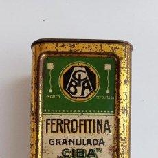 Cajas y cajitas metálicas: CAJA FERROFITINA GRANULADA CIBA. W. Lote 187326872