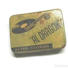 Cajas y cajitas metálicas: AL DRAGON CAJA METALICA AGUJAS GRAMÓFONO, CON AGUJAS AÑOS 30. Lote 187331732