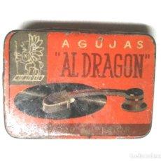 Cajas y cajitas metálicas: AL DRAGON CAJA METALICA AGUJAS GRAMÓFONO AÑOS 30. Lote 187331822