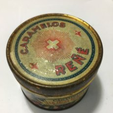 Cajas y cajitas metálicas: CAJA METALICA DE CARAMELOS LA SUIZA REÑÉ S.A. REDONDA RARA. Lote 187626826