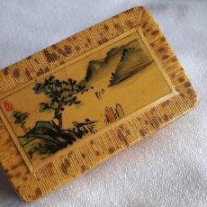 Cajas y cajitas metálicas: PRECIOSA CAJITA AÑOS 70 BAMBU JAPON CHINA CANTON . Lote 188463731