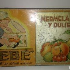 Cajas y cajitas metálicas: CAJA METÁLICA DE MERMELADAS Y DULCES BEBE.. Lote 189463697