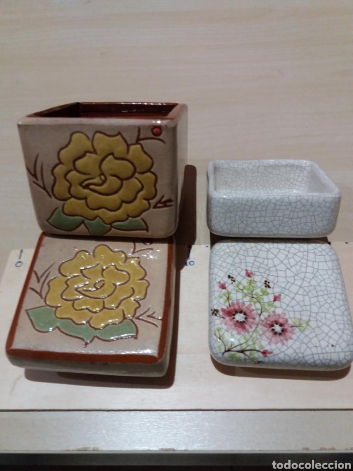 Cajas y cajitas metálicas: 2 cajas ceramica - Foto 2 - 189500563