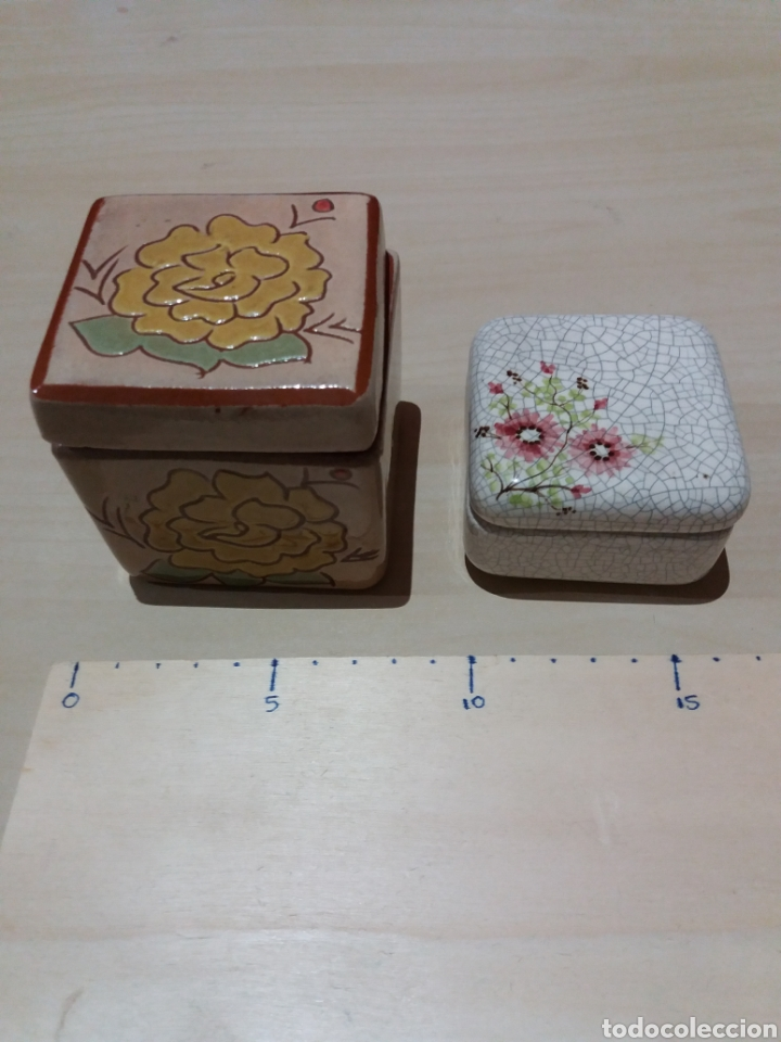 2 CAJAS CERAMICA (Coleccionismo - Cajas y Cajitas Metálicas)
