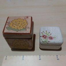 Cajas y cajitas metálicas: 2 CAJAS CERAMICA. Lote 189500563