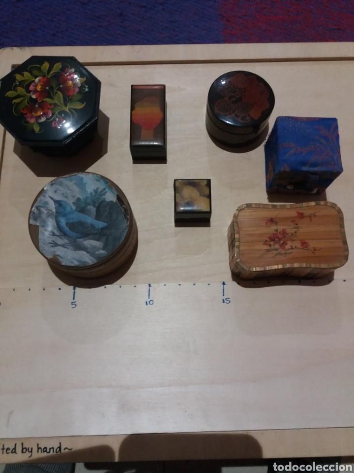 LOTE CAJITAS VARIAS PARA COLECCIONAR (Coleccionismo - Cajas y Cajitas Metálicas)
