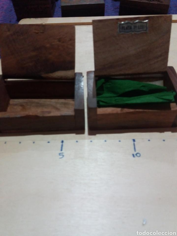 Cajas y cajitas metálicas: 2 cajitas madera coleccionable - Foto 2 - 189702485