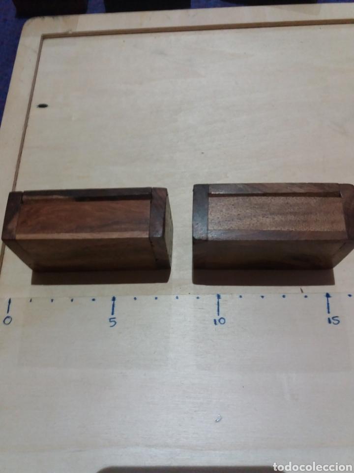 Cajas y cajitas metálicas: 2 cajitas madera coleccionable - Foto 3 - 189702485