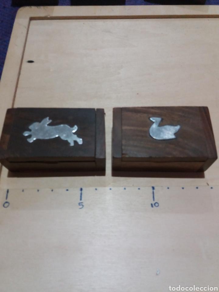 2 CAJITAS MADERA COLECCIONABLE (Coleccionismo - Cajas y Cajitas Metálicas)