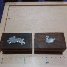 Cajas y cajitas metálicas: 2 CAJITAS MADERA COLECCIONABLE. Lote 189702485