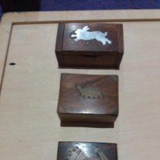 Cajas y cajitas metálicas: 3 CAJITAS DE MADERA COLECCIONABLE. Lote 189702727