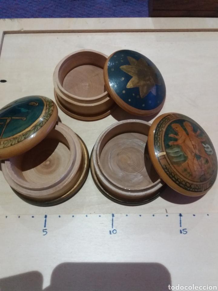 Cajas y cajitas metálicas: 3 cajitas de madera - Foto 2 - 189703726
