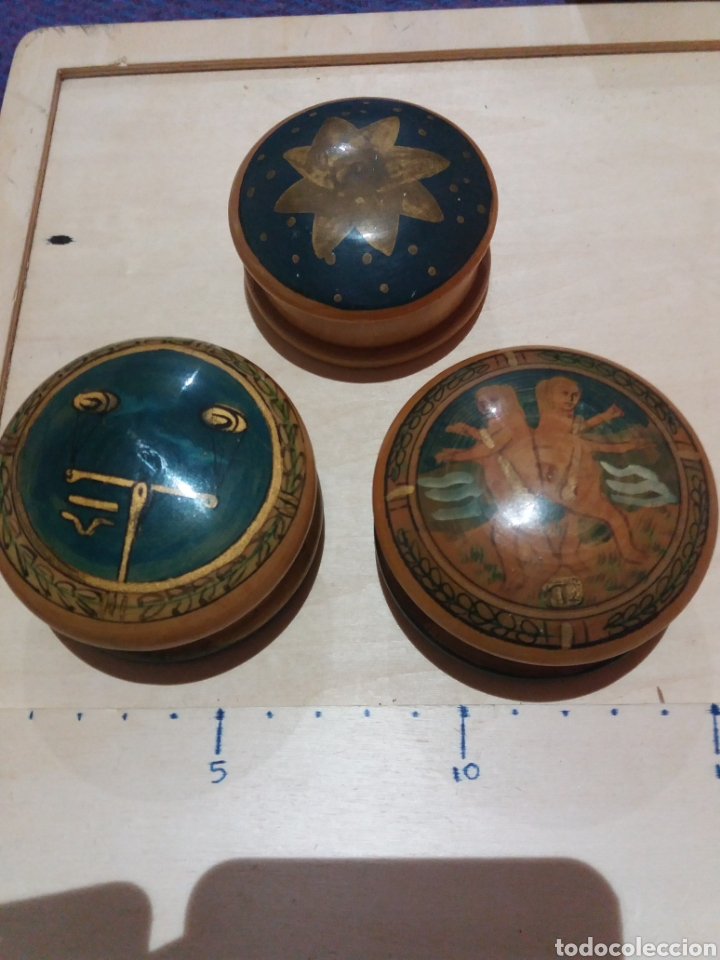 3 CAJITAS DE MADERA (Coleccionismo - Cajas y Cajitas Metálicas)