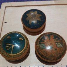 Cajas y cajitas metálicas: 3 CAJITAS DE MADERA. Lote 189703726