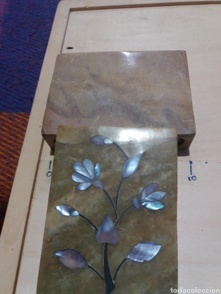 Cajas y cajitas metálicas: Cajita de mármol perfumador con incrustaciones de Nacar - Foto 4 - 189706002