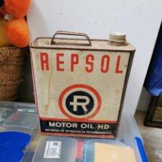 Cajas y cajitas metálicas: ANTIGUA LATA DE ACEITE REPSOL . Lote 189922487