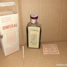 Cajas y cajitas metálicas: FRASCO DE FARMACIA JARABE ONEIRAL LABORATORIOS MILO DE ZARAGOZA // SIN DESPRECINTAR CON PROSPECTO. Lote 190627520