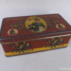 Cajas y cajitas metálicas: CAJA DE LATA LITOGRAFIADA WERTHEIM, MAQUINAS PARA COSER. Lote 191123968