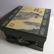 Cajas y cajitas metálicas: CAJA CON PAISAJES Y LETRAS DE JAPÓN . Lote 191199145