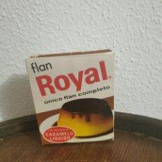 Cajas y cajitas metálicas: ANTIGUA CAJA FLAN ROYAL . Lote 191448036