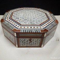Boîtes et petites boîtes métalliques: CAJA JOYERO MARQUETERÍA TARACEA HEXAGONAL. Lote 191768776