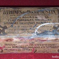 Cajas y cajitas metálicas: CAJA METÁLICA LITHINES DU DOCTOR GUSTIN. Lote 191801883