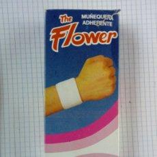 Cajas y cajitas metálicas: CAJA DE FARMACIA - MUÑEQUERA ADHERENTE THE FLOWER TALLA ÚNICA - SIN ESTRENAR - PARA DEPORTE. Lote 192099631