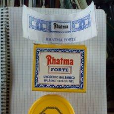 Cajas y cajitas metálicas: CAJA FARMACIA DEL UNGUENTO BALSAMICO RHATMA FORTE DE JENNY S.L. CON PAPEL INSTRUCIONES. Lote 192100016