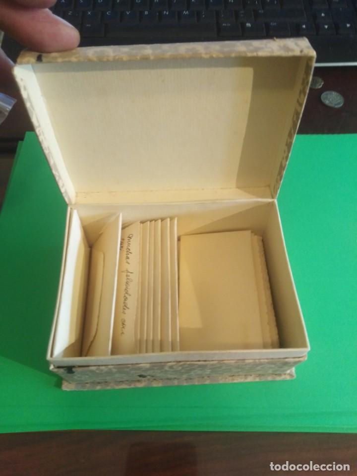 Cajas y cajitas metálicas: Antigua caja de cartón con sobres ref 0171 - Foto 2 - 192143870