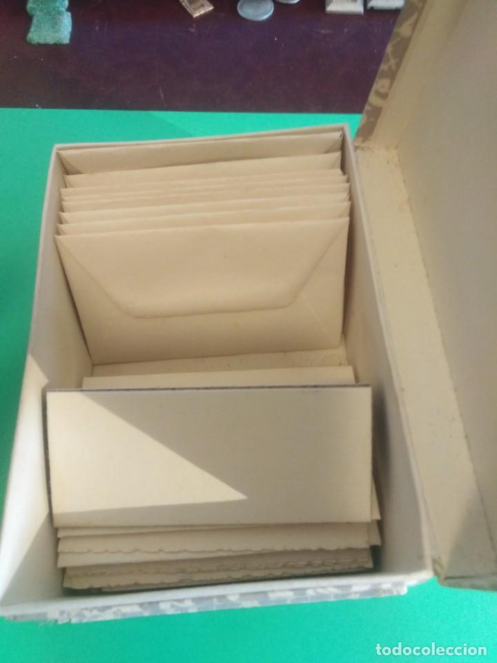 Cajas y cajitas metálicas: Antigua caja de cartón con sobres ref 0171 - Foto 3 - 192143870
