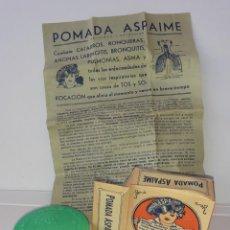 Caixas e caixinhas metálicas: CAJA DE FARMACIA POMADA ASPAIME // SIN DESPRECINTAR CON PROSPECTO ORIGINAL. Lote 192175262