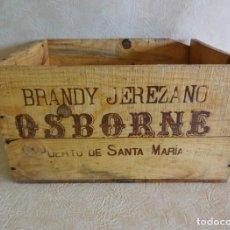 Casse e cassette metalliche: ANTIGUA CAJA DE MADERA DE BRANDY OSBORNE RESTAURADA!. Lote 34810434