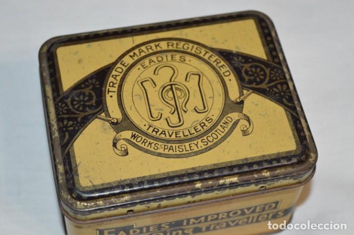 Cajas y cajitas metálicas: ANTIGUA CAJA DE HOJALATA - Eadies Improved Ring T. - Muy bonita, buen estado ¡Mira fotos/detalle! - Foto 2 - 192822281
