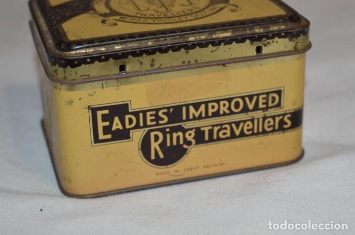 Cajas y cajitas metálicas: ANTIGUA CAJA DE HOJALATA - Eadies Improved Ring T. - Muy bonita, buen estado ¡Mira fotos/detalle! - Foto 3 - 192822281