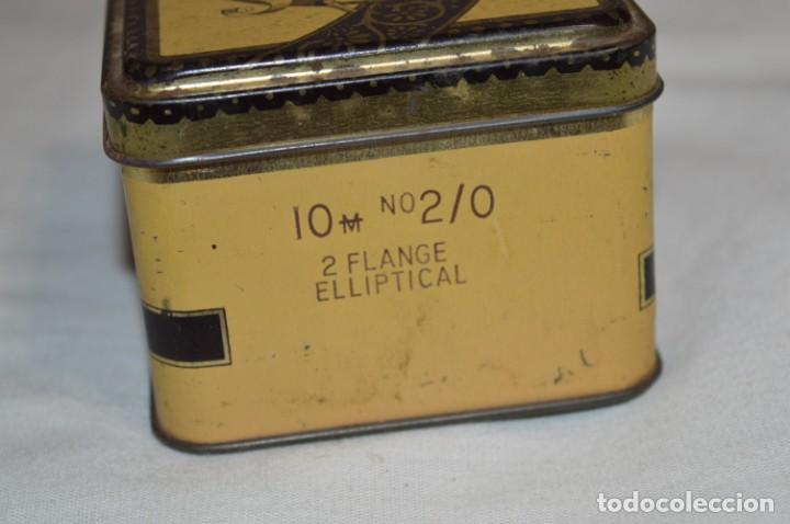 Cajas y cajitas metálicas: ANTIGUA CAJA DE HOJALATA - Eadies Improved Ring T. - Muy bonita, buen estado ¡Mira fotos/detalle! - Foto 6 - 192822281