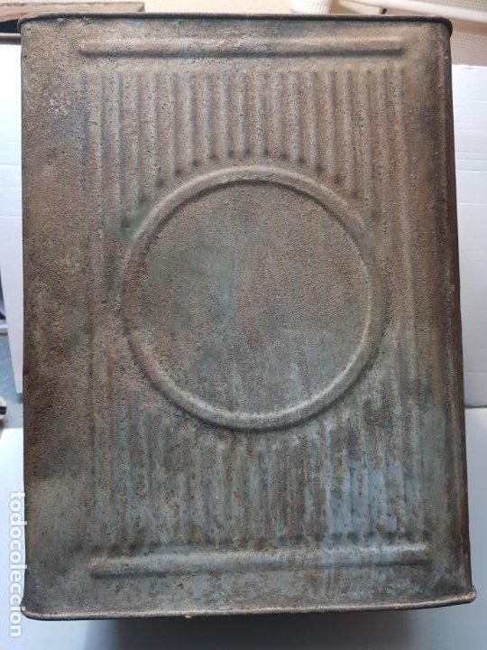 Cajas y cajitas metálicas: Lata Hojalata Grande de Confeteria con grabados - Foto 3 - 193276910