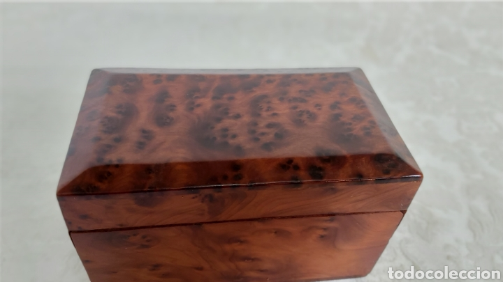 Cajas y cajitas metálicas: CAJA DE MADERA DE RAIZ O DE THUYA PARA GUARDAR BARAJAS - Foto 3 - 193362547